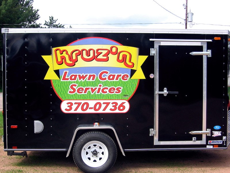 Kruzn Lawn Care Vehicle Graphics