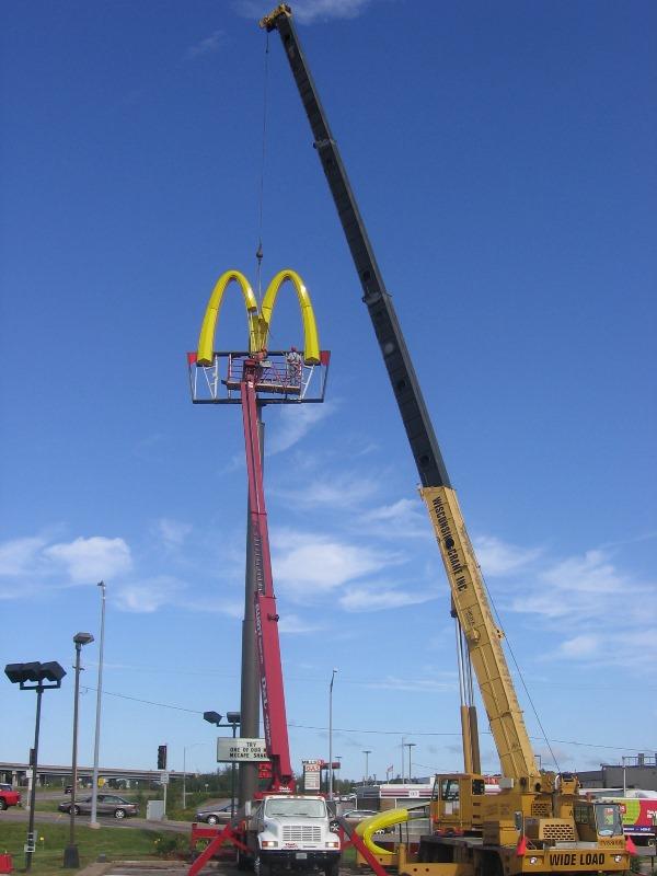 McDonald\'s Street Sign Installation