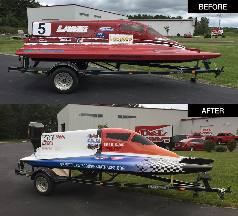 Grand Prix Wisconsin Boat Graphics