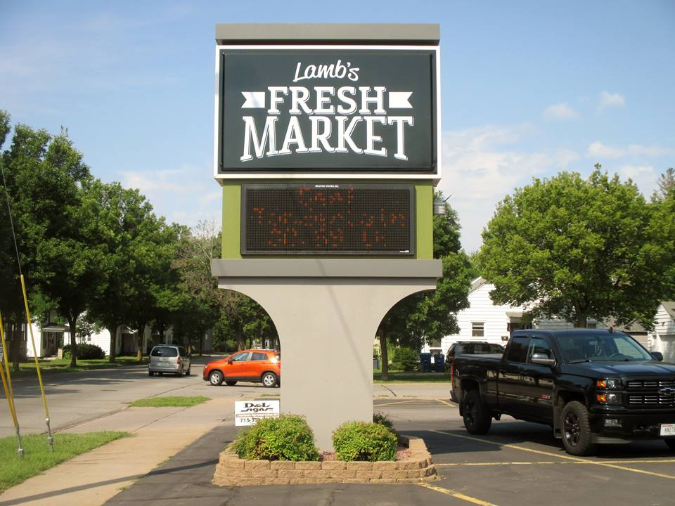 Lambs Fresh Market Street Signage