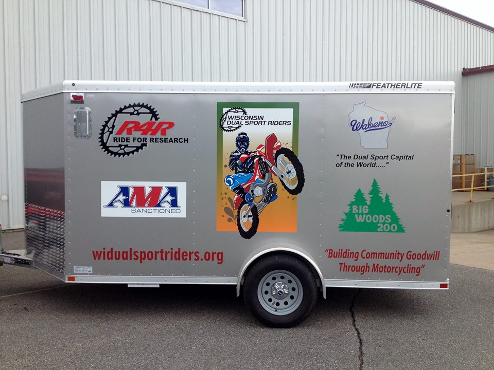 WI Dual Sport Riders Trailer Graphics