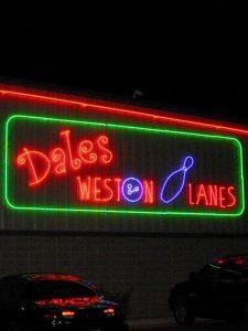 Weston Lanes Neon Signage Sidebar