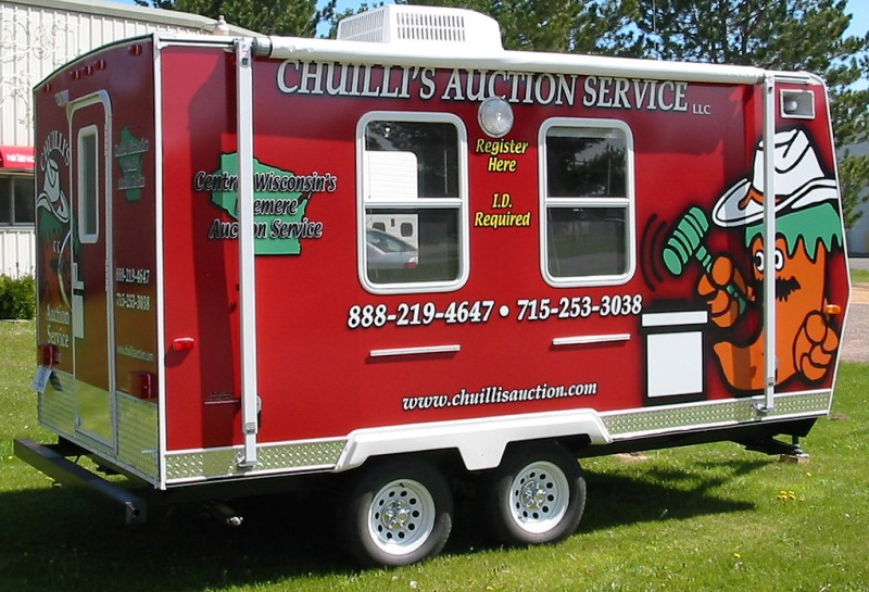 Chuillis Auction Service Trailer Graphics