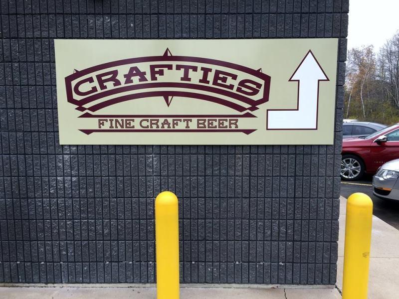 Crafties Fine Craft Beer Building Signage